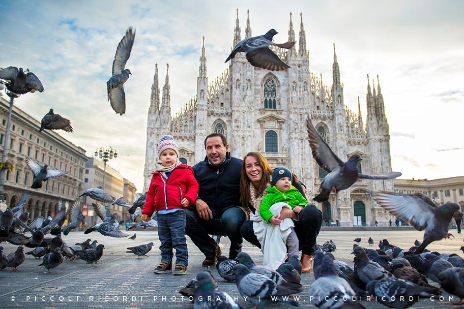 una mattinata in piazza duomo con una bellissima famiglia